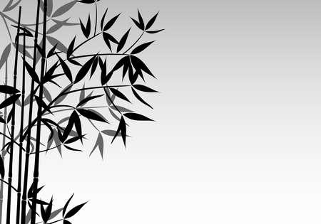 Arrière-plan de bambou, illustration vectorielle
