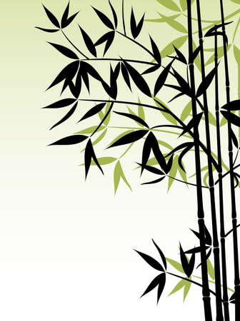 bamboo leaves: Bamboo background, vector illustration