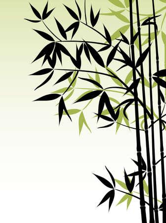 Sfondo di bambù, illustrazione vettoriale