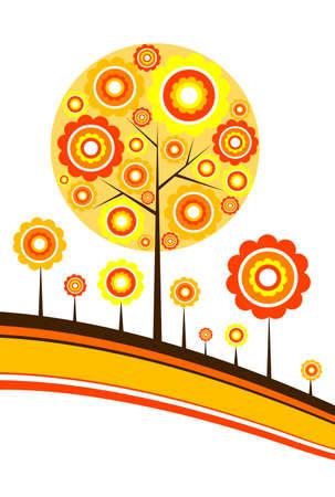 Tree autumn background, vector illustration Stock Vector - 8960675
