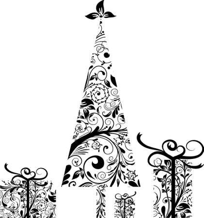 christmas tattoo: Christmas celements for design, vector illustration Illustration
