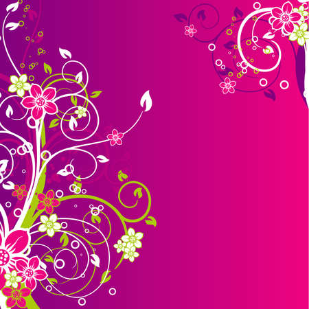 Floral abstract background, vector illustration