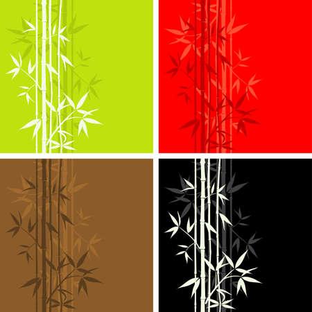 Bamboo pattern, seamless, vector illustration