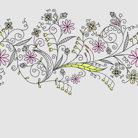 Seamless floral pattern, vector illustration Vector