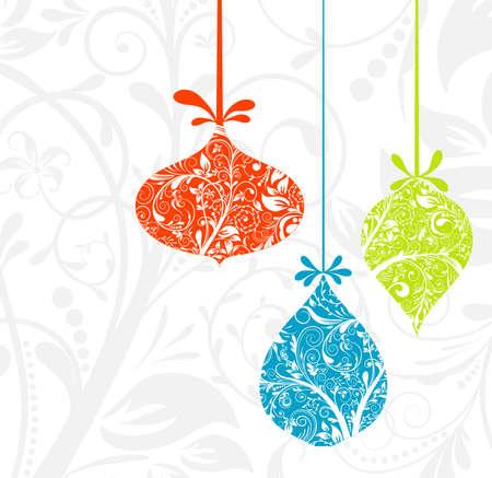 Christmas card with an ornament, vector illustration Ilustrace