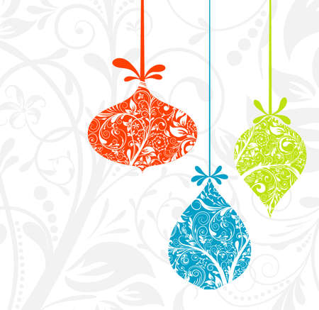 winter flower: Christmas card with an ornament, vector illustration Illustration