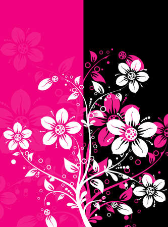 Floral abstract background, vector illustration Stock Vector - 8969267