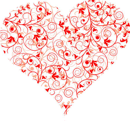 Valentines Day, heart, background, vector illustration Stock Vector - 8969243