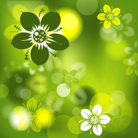 Fondo abstracto floral, ilustración