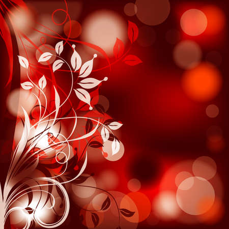 Floral abstract background,  illustration  Vector
