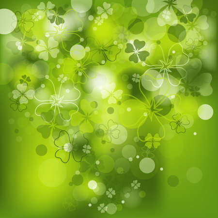 the clover: St. Patricks background with clover, vector illustration, eps10 Illustration