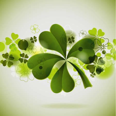 St. Patricks background with clover, vector illustration, eps10 Vector