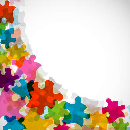 Abstract puzzle background, vector illustration Vector