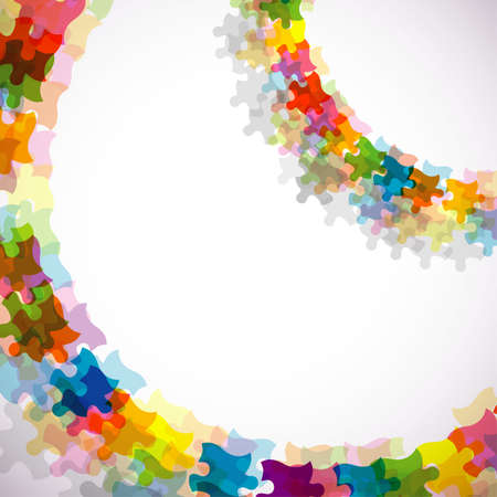 Abstract puzzle background, vector illustration, eps10 Vector