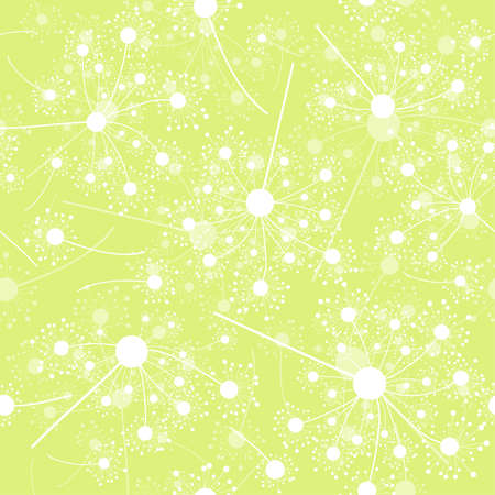 Seamless dandelion pattern, vector illustration Vector
