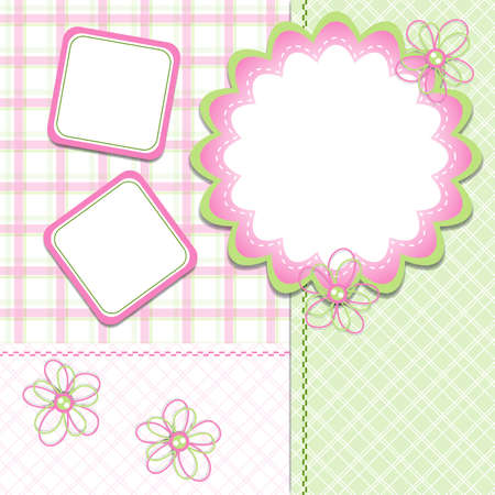 Template cards for the girl, vector illustration, eps10 Vector