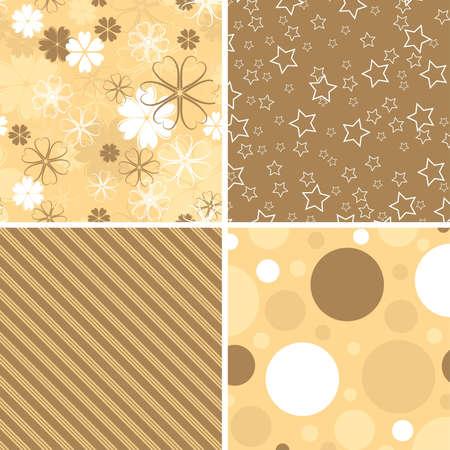 Scrapbook patterns for design, vector illustration Vector