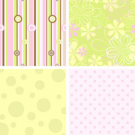 Scrapbook patterns for design, vector illustration Ilustrace
