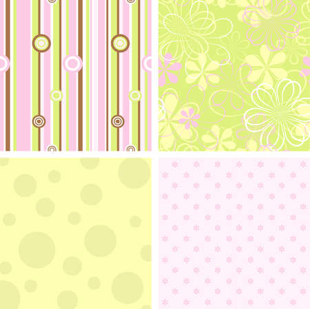 Scrapbook patterns for design, vector illustration Illustration