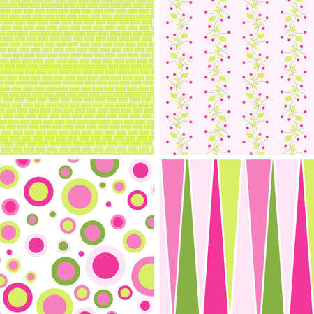 Scrapbook patterns for design, vector illustration Vector
