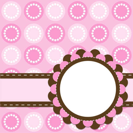Template cards for the girl Vector