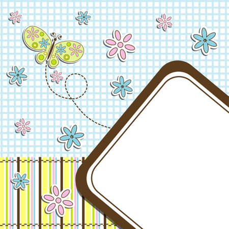 Template cards for the boy and girl Vector