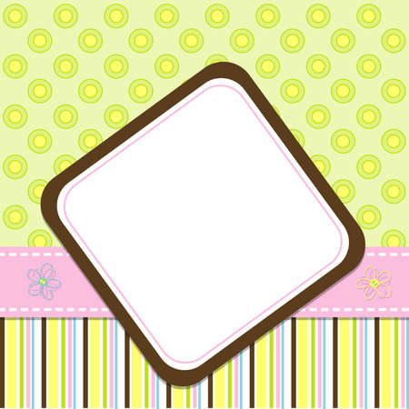 Template cards for the girl Stock Vector - 9631396