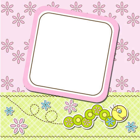 Template cards for the girl, vector illustration, eps10 Illustration