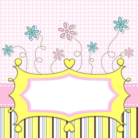 Template cards for the girl, vector illustration  Vector