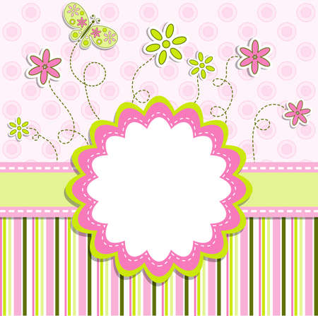 Template greeting card, vector illustration Stock Vector - 9710690