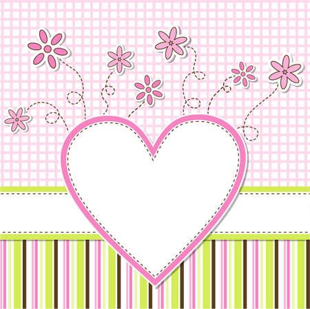 saludo: Tarjeta de felicitaci�n de la plantilla, ilustraci�n vectorial, eps10
