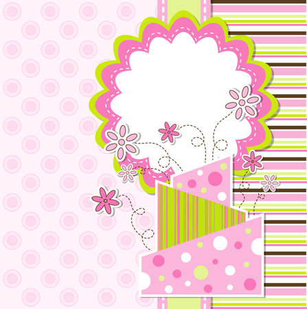 Template greeting card, vector illustration, eps10 Vector