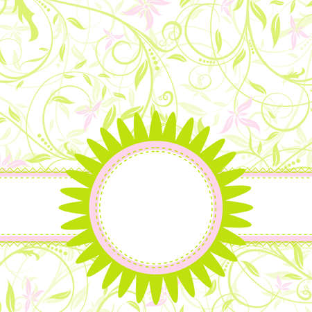 Template greeting card, vector illustration Stock Vector - 9710739