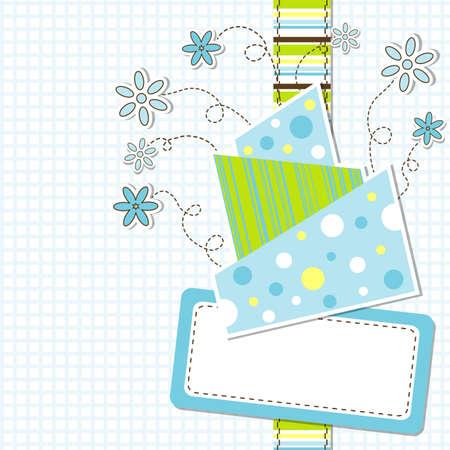 Template greeting card, vector illustration, eps10 Иллюстрация