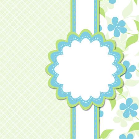 saludo: Tarjeta de felicitaci�n de plantilla Vectores