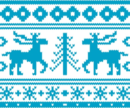 Nahtlos gestrickter Weihnachten Muster