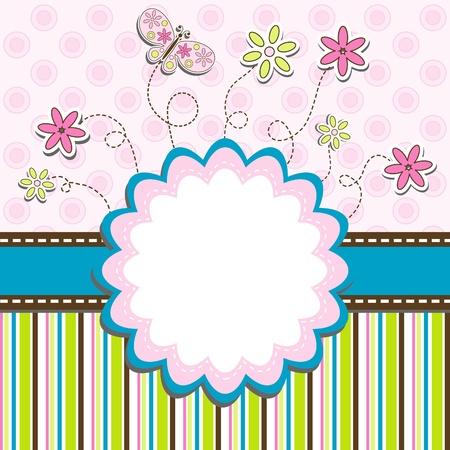 Plantilla de tarjetas de felicitación, ilustración vectorial