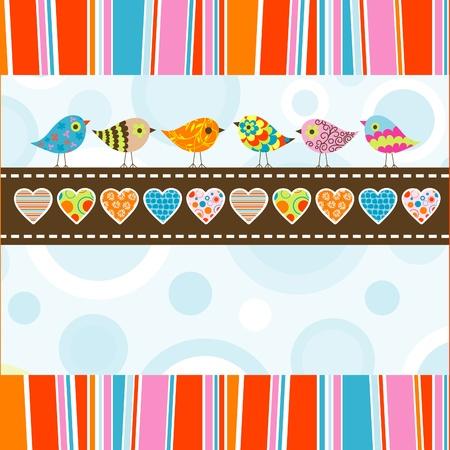Template greeting card, illustration Illustration