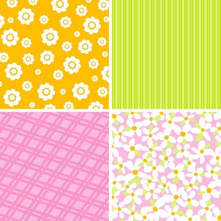 Scrapbook patterns for design, illustration