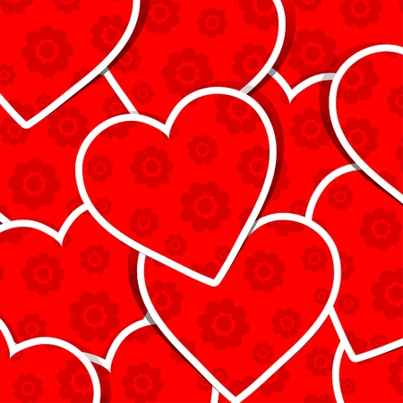 Valentine heart pattern, illustration