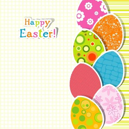 Template egg greeting card, illustration
