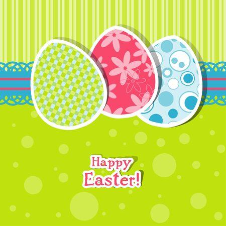 Huevos plantilla de tarjetas de felicitación, ilustración vectorial