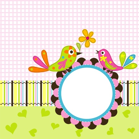 Plantilla de tarjetas de felicitación, ilustración vectorial chatarra