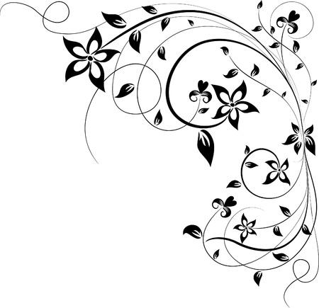 elemento floral ilustración vectorial para el diseño,