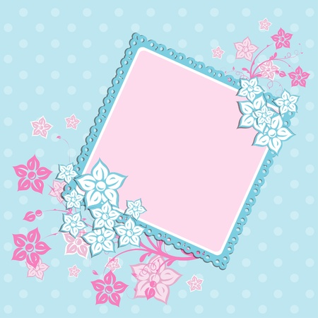 Template greeting card, vector scrap illustration Stock Vector - 16683813