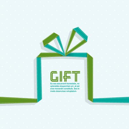 Geschenk in de stijl van origami lint, vector illustratie