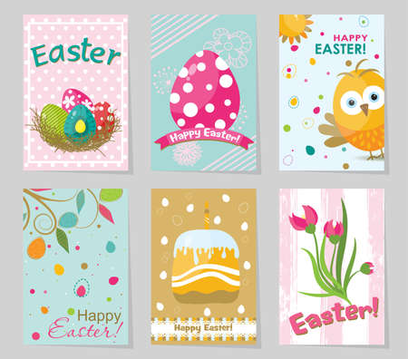 Set of colored easter greeting cards design template creative set of colored easter greeting cards design template creative cards posters label m4hsunfo