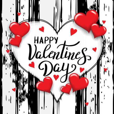 Happy Valentines day template for banner or poster