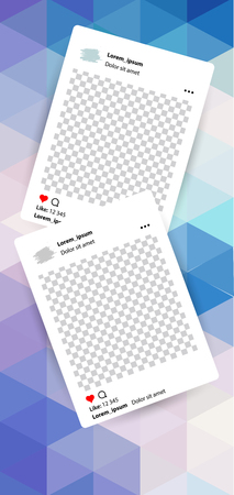 Trendy editable template for social networks stories , vector illustration. Design backgrounds for social media. Hand drawn abstract card.