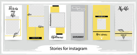 Trendy editable template for social networks stories , vector illustration. Design backgrounds for social media.